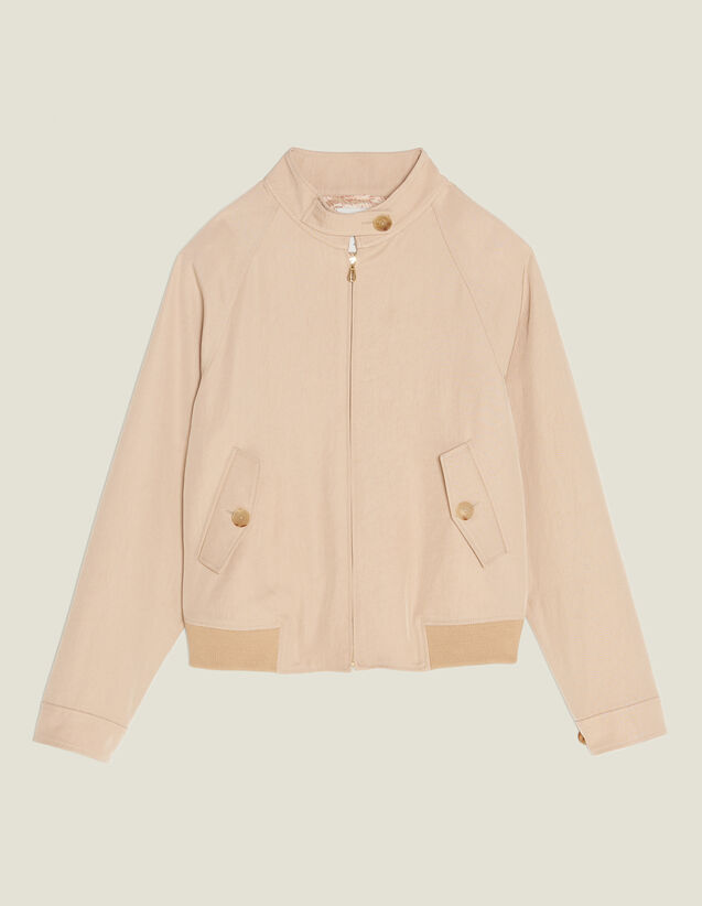 Cropped Plain Flowing Jacket by Sandro Paris