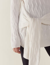 Cable Knit Sweater : null color Ecru