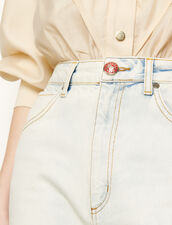 Snow wash jeans : Jeans color Bleached - Denim