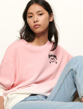 Embroidered gradient sweatshirt : Sweatshirts color Pink