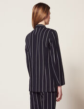 Matching Striped Blazer : null color Navy Blue