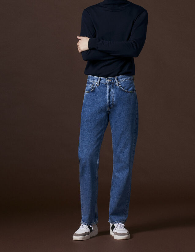 Blue straight-cut jeans : All Selection color Blue Vintage - Denim
