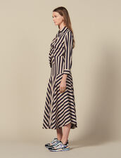 Long Dress With Striped Design : New In color Beige / Blue