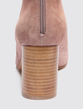 Split Leather Ankle Boots : null color Pink