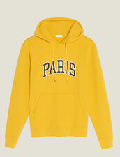 Hoodie With Patch Lettering : SOLDES-CH-HSelection-PAP&ACCESS-2DEM color Yellow