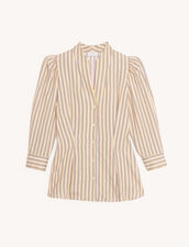 Shirt with fancy stripes : Tops & Shirts color Pink / Yellow