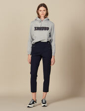 Tapered trousers with fall front : LastChance-ES-F40 color Navy Blue