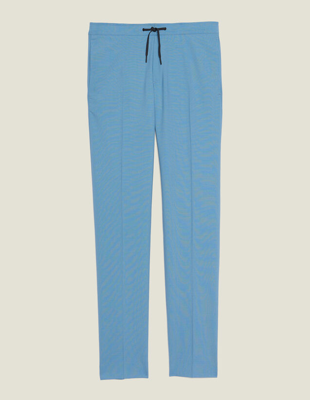 Smart Drawstring Waist Trousers : Sélection Last Chance color Steel blue
