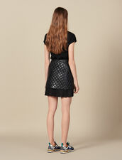 Short Quilted Leather Skirt : Copy of VP-FR-FSelection-Jupes&Shorts color Black
