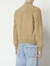 Suede Jacket : HAnciennesCollections color Light Beige