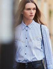 Striped Poplin Shirt : LastChance-ES-F50 color Blue sky