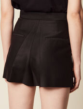 Shorts With Press Studs : null color Black