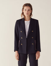 Double-Breasted Jacket : LastChance-FR-FSelection color Navy Blue