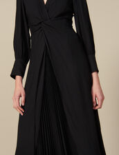 Long draped dress : FBlackFriday-FR-FSelection-50 color Black