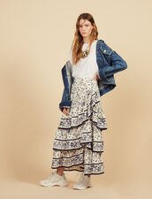 Long Printed Ruffled Skirt : Skirts & Shorts color Multi-Color