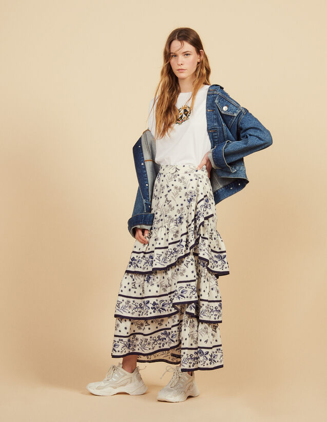 Long Printed Ruffled Skirt : Skirts & Shorts color Multi-Color