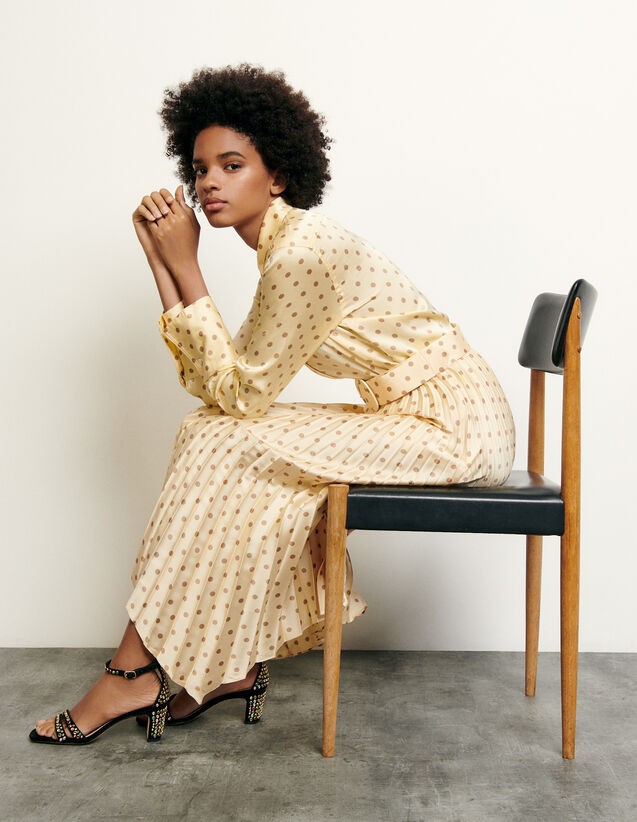 Classic shirt with polka dot print : Summer Collection color Yellow