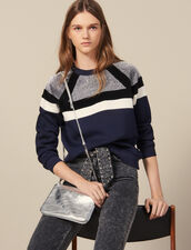 Sweatshirt with stripes : LastChance-ES-F20 color Navy Blue