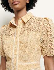 Short lace dress : Dresses color Eggshell