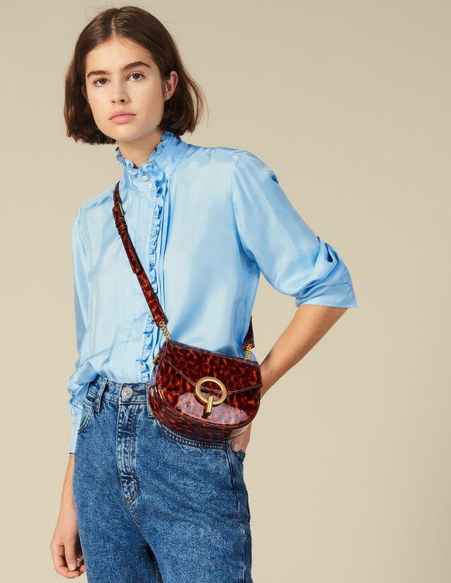 Pépita Patent Leather Bag, Small Model : New In color Orange leopard
