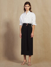 Long Wrapover Skirt : Skirts & Shorts color Black