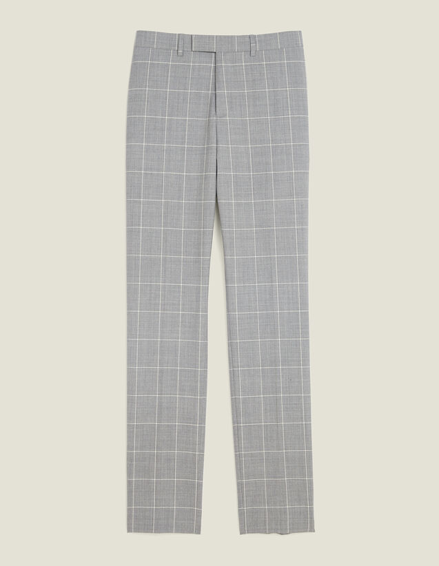 Classic Super 120 Suit Trousers : Suits & Tuxedos color Light Grey