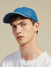 Faded Denim Cap : Summer suitcase color Blue