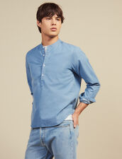 Faded Chambray Tunic : Shirts color Blue Vintage - Denim
