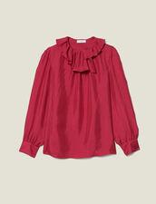 Silk Top With Small Asymmetric Collar : FBlackFriday-FR-FSelection-30 color Fuchsia