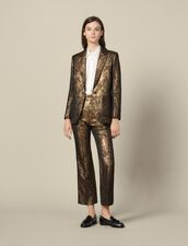 Brocade tailored jacket : Blazers & Jackets color Gold