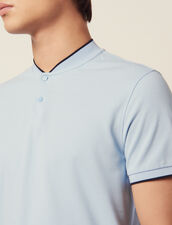 Polo Shirt With Collar Detail : LastChance-FR-H30 color Sky Blue