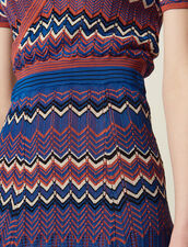 Long Knit Skirt With Zigzag Print : null color Terracotta