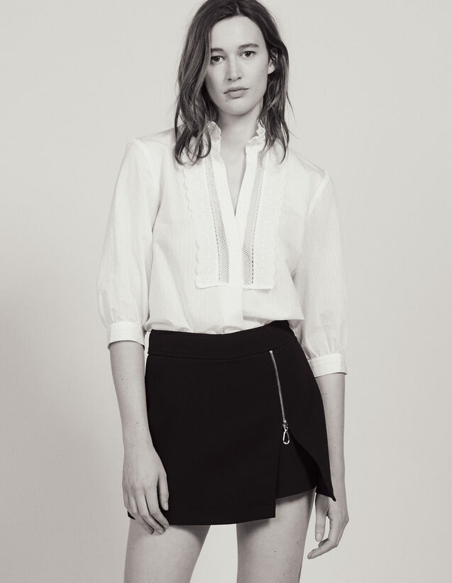 Trompe L'Œil Shorts : Skirts & Shorts color Black