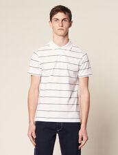 Stripe Polo Shirt : Sélection Last Chance color white