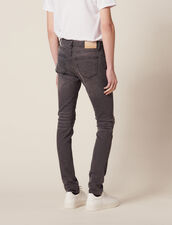 Destroyed Jeans - Skinny Cut : Jeans color Grey