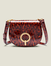 Pépita Patent Leather Bag, Small Model : New In color Orange leopard