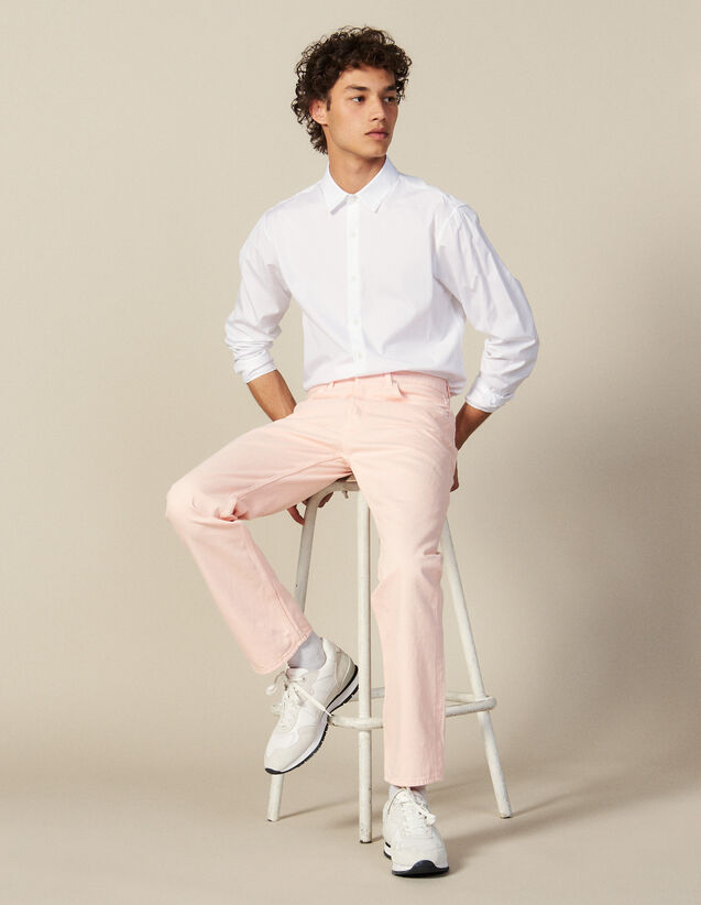 Regular Pink Jeans : Jeans color Pink