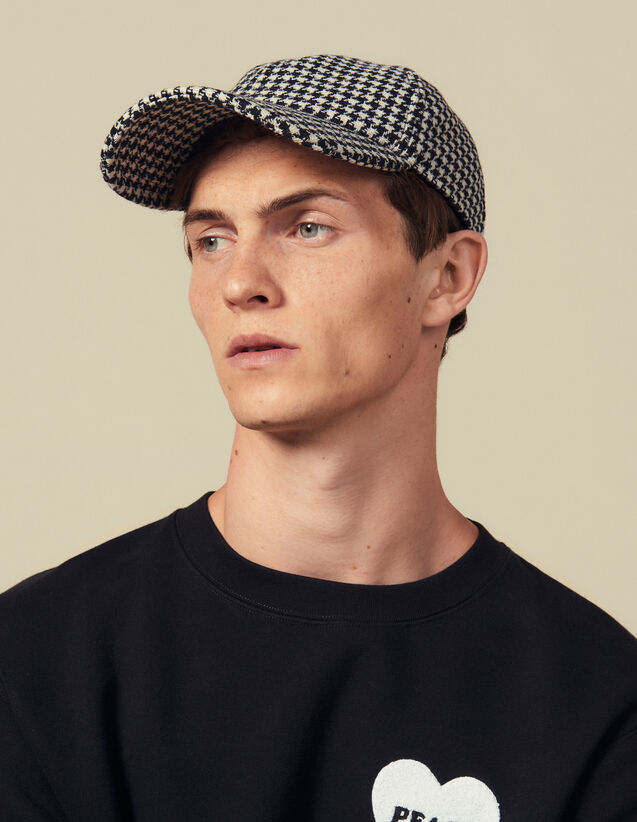Houndstooth Cap : Caps color Black/White