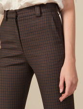 Checked Trousers : Pants color Multi-Color