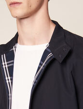 Oversized Harrington-Style Jacket : Blazers & Jackets color Navy Blue