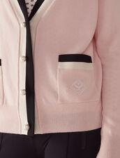 Fine Knit Collegiate Cardigan : null color Nude