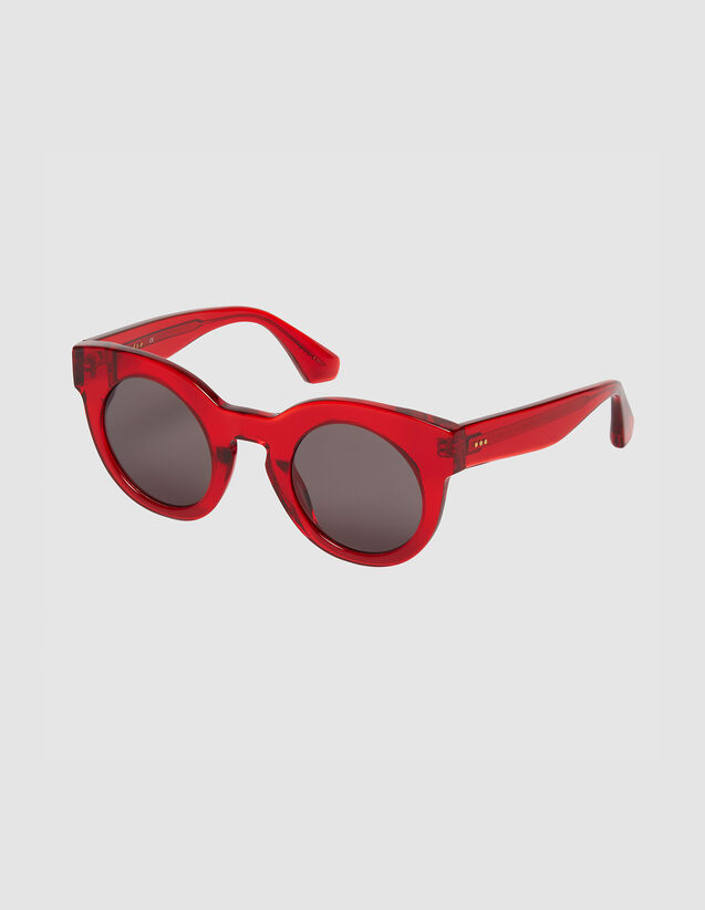 Oversized round sunglasses : All Winter collection color Red