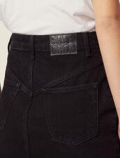 Short Denim Skirt : Skirts & Shorts color Black