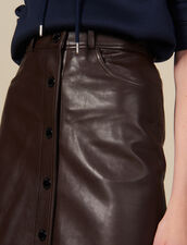 Midi Leather Skirt : FBlackFriday-FR-FSelection-30 color Brown