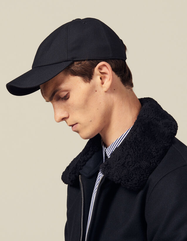 Wool Blend Cap : Caps color Navy Blue