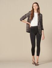 Lurex knit leggings : FBlackFriday-FR-FSelection-30 color BURGUNDY