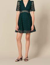 Short dress sweetheart guipure neckline : FBlackFriday-FR-FSelection-30 color Green