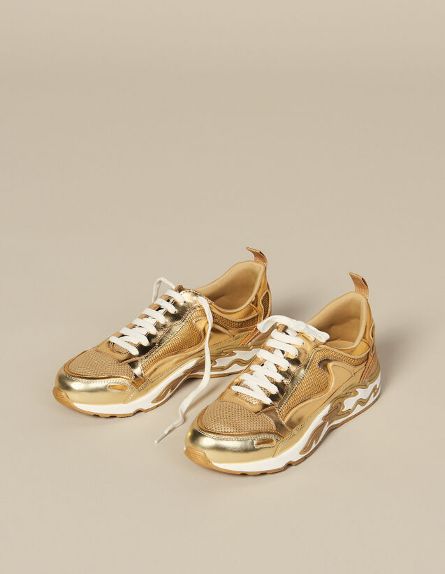Flame Trainers : New In color Full Gold