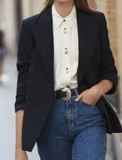 Oversized striped blazer : Copy of VP-FR-FSelection-Blousons&Manteaux color Black