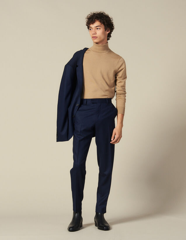 Wool Suit Trousers : Suits & Tuxedos color Navy Blue